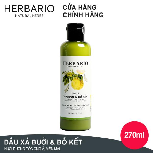 Dầu xả Vỏ bưởi và Bồ kết HERBARIO dưỡng tóc mềm mại 270ml