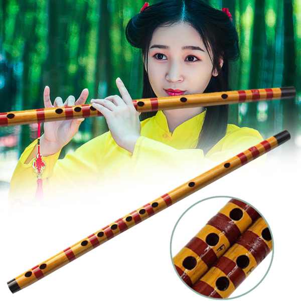 JZRGNQ Yellow Gift for Beginner National Instrument Bamboo Musical Flute Malaysia