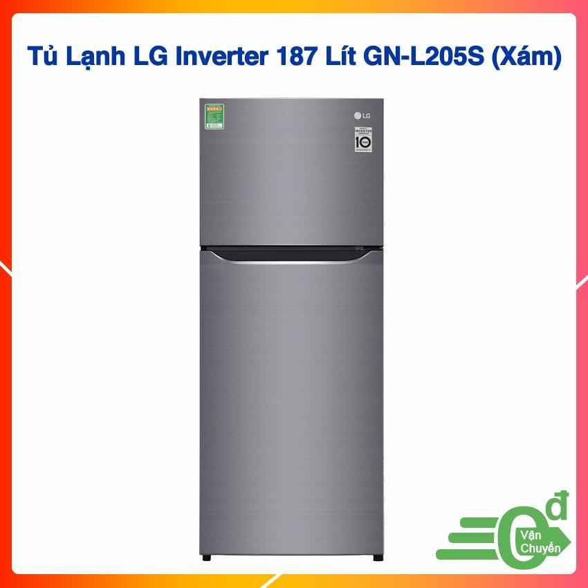 Tủ Lạnh LG Inverter 187 Lít GN-L205S (Xám)