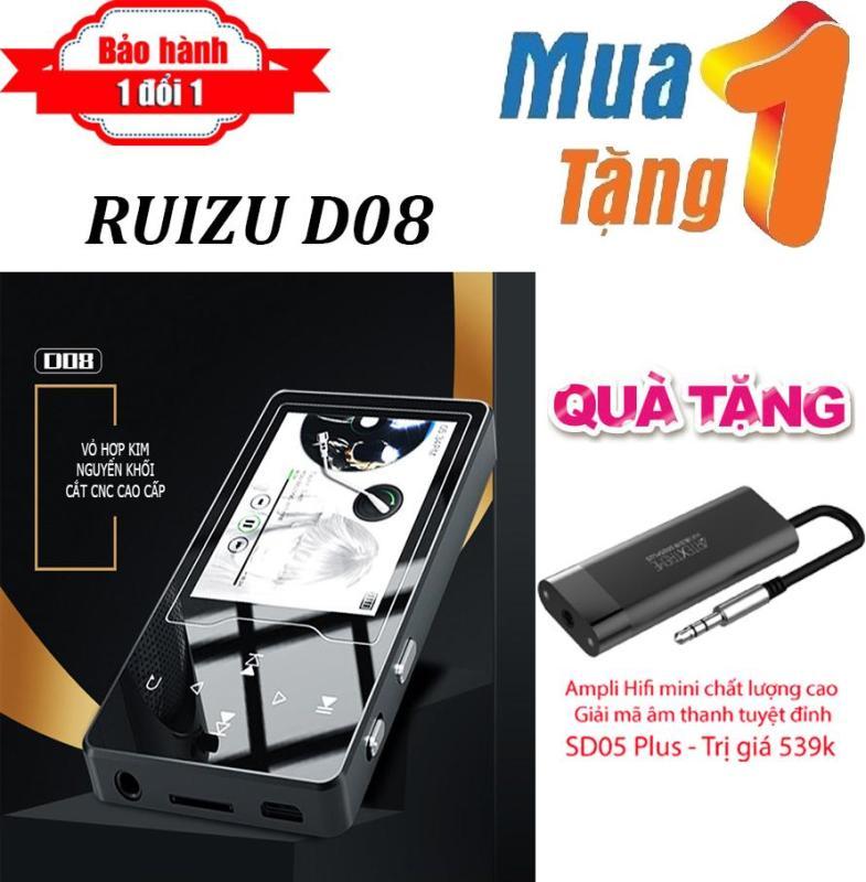 Máy nghe nhạc MP4 màn hình HD 2.4 inches Ruizu D08  + Tặng Ampli HiFi Mini SD05 Plus - Máy nghe nhạc Lossless chất lượng cao - máy nghe nhạc giá rẻ