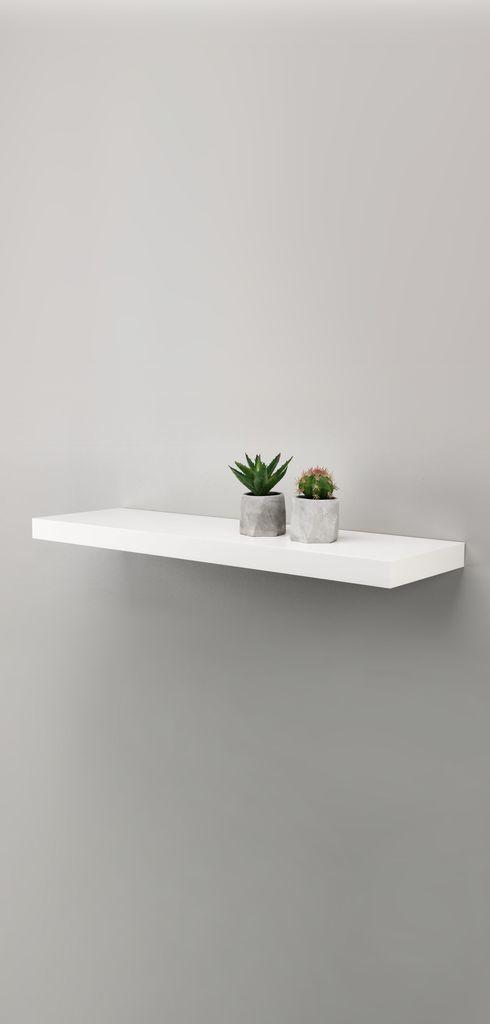 [HCM]Kệ treo tường gỗ trang trí Rộng 40cm x sâu 15cm ( Có 4 màu đen nâu vàng trắng )