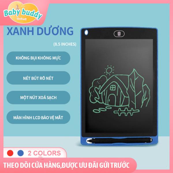Bảng chữ viết tay màn hình LCD 8.5 inch, bảng viết tự xóa bằng một nút bấm, bảng viết cho bé, là một bảng viết xóa thông minh, bảng viết chữ, bảng vẽ điện tử, bảng vẽ tự xóa, tái sử dụng nhiều lần, thay thế giấy nháp