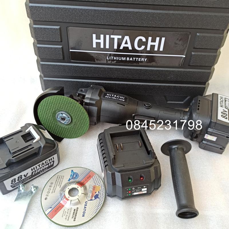 Máy mài, máy cắt pin Hitachi 2 pin kèm bộ phụ kiện cực tốt
