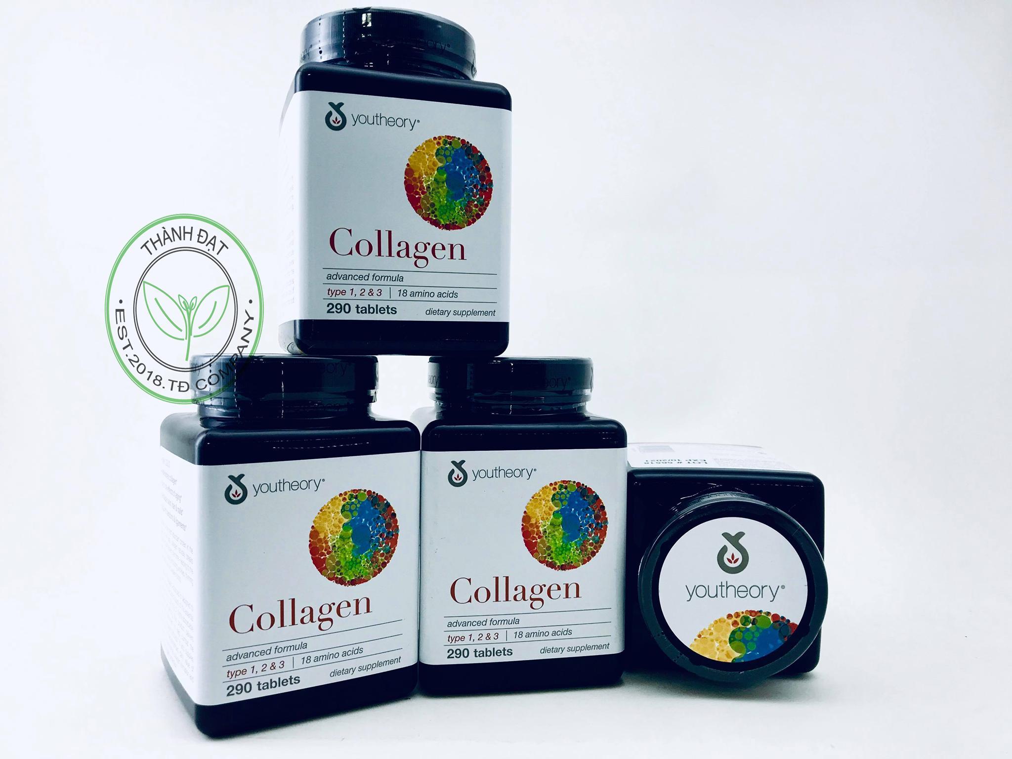 Youtheory Collagen Công Thức Cải Tiến, 290 viên - Hàng xách tay từ New Zealand