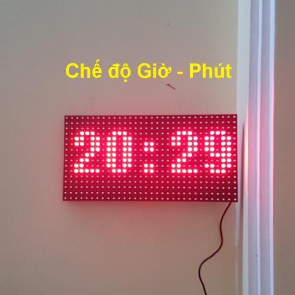Đồng hồ Led Matrix, Led P10 siêu to khổng lồ - Treo tường, để bàn bán chạy