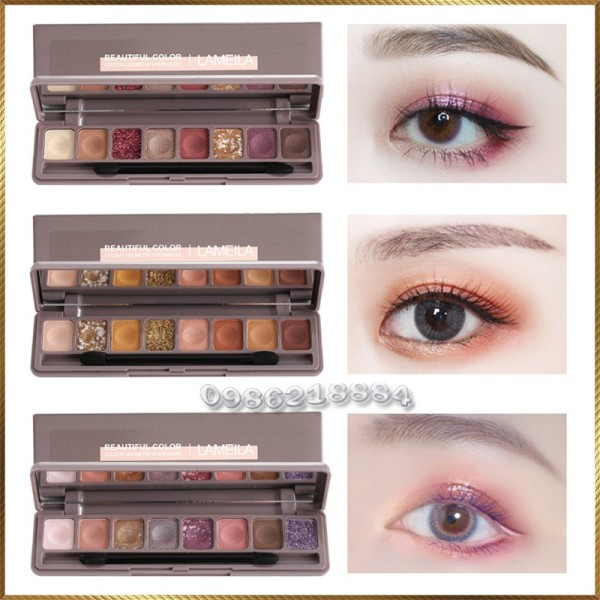 Bảng phấn màu mắt dài 8 ô màu Lameila Beautiful Color LBC8 giá rẻ
