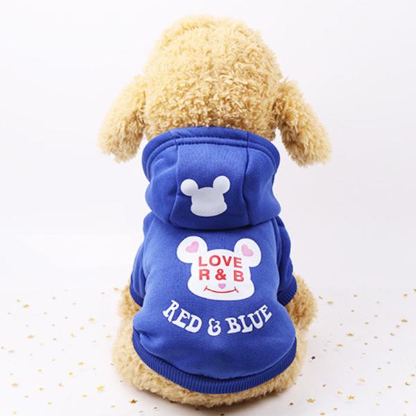 Quần Áo Chó Mèo - Áo Red & Blue Có Mũ Cho Thú Cưng