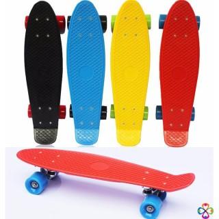 VÁN TRƯỢT 4 BÁNH Ván Trượt Skateboard Có Đèn Led, Ván Trượt Thể Thao Đạt Chuẩn Thi Đấu Cho Trẻ Em và Người Lớn Có 4 Bánh Phát Sáng BH 12 THÁNG thumbnail