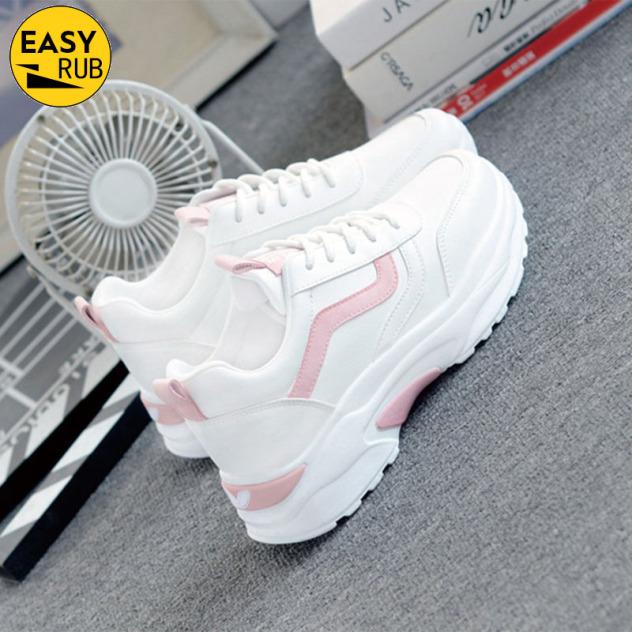 EASY RUB Giày thể thao nữ nhẹ nhàng thoáng khí màu trắng phong cách hàn Quốc - INTL giá rẻ