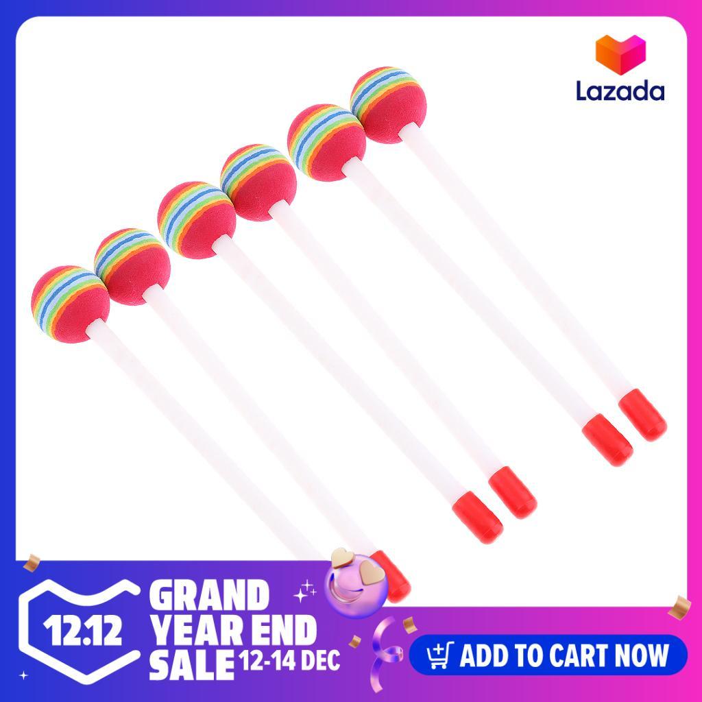 Kowaku 3 Đôi Lollipop Tay Trống Vồ Búa Âm Nhạc Bộ Gõ Đồ Chơi Giáo Dục Giá Sốc Không Thể Bỏ Qua