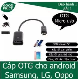 Cáp OTG Micro usb, Type C ra USB cho điện thoại kết nối USB, thẻ nhớ, USB 3G,( màu đen) thumbnail