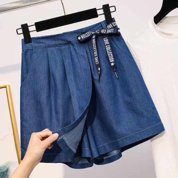 Nơi bán Quần giả váy bigsize denim QSBS001 - Quần short đùi bigsize cho người béo mập 55-100KG - Đi chơi, đi tiệc hay dạo phố