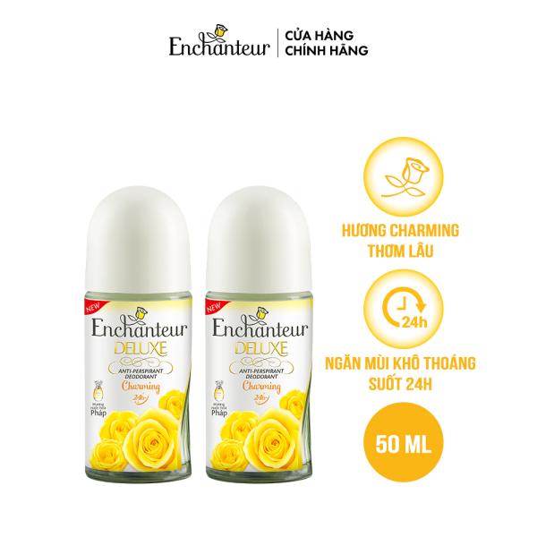 Combo 2 Lăn khử mùi nước hoa Enchanteur Charming 50ml/ Chai