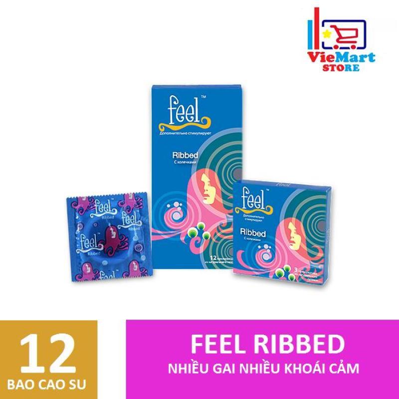Bao cao su Feel Ribbed Gân 12s - Hãng phân phối chính thức.