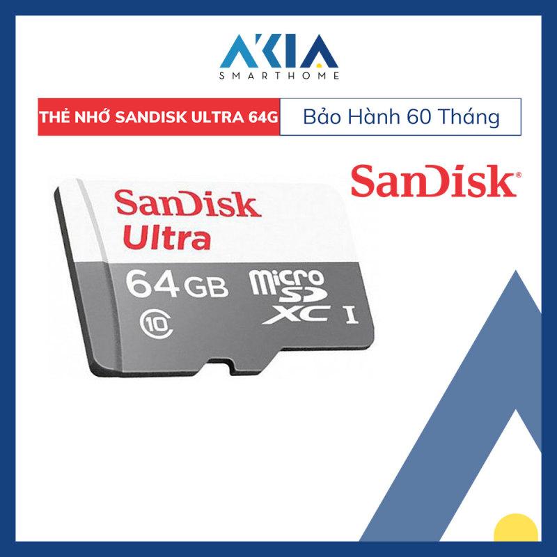 Thẻ Nhớ MicroSDXC SanDisk Ultra 64GB 80MB/s 533x không Adapter - Hàng Chính Hãng