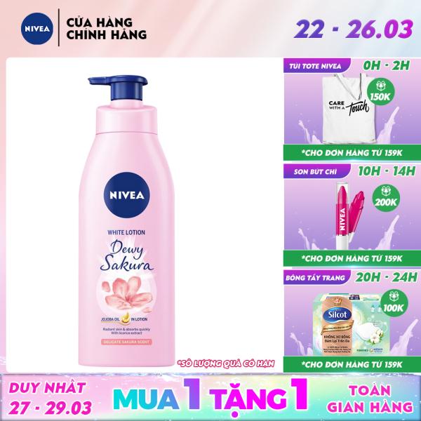 Sữa dưỡng thể dưỡng trắng da Nivea Dewy Sakura 350ml - 85703 giá rẻ