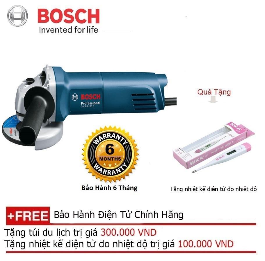 Máy mài góc Bosch GWS 6-100S ( Công tắc đuôi) + Quà tặng nhiệt kế điện tử