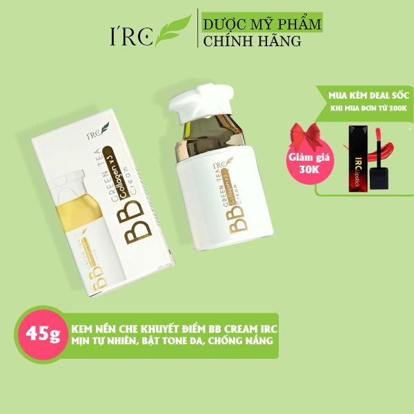 Kem nền che khuyết điểm BB Cream GreenTea IRC cho da dầu mụn chống nắng dưỡng da giá rẻ