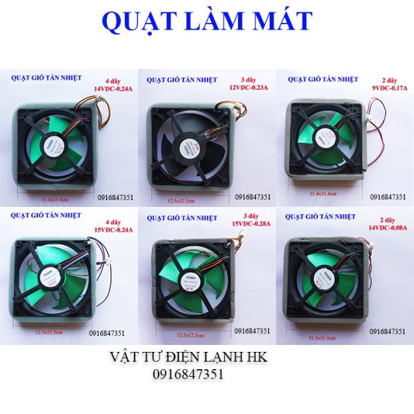[CAO CẤP] Quạt gió tản nhiệt tủ 2 dây 3 dây 4 dây các loại cỡ 11.4x11.4cm 12.5x12.5cm (chọn đúng loại khi đặt hàng) - quạt làm mát