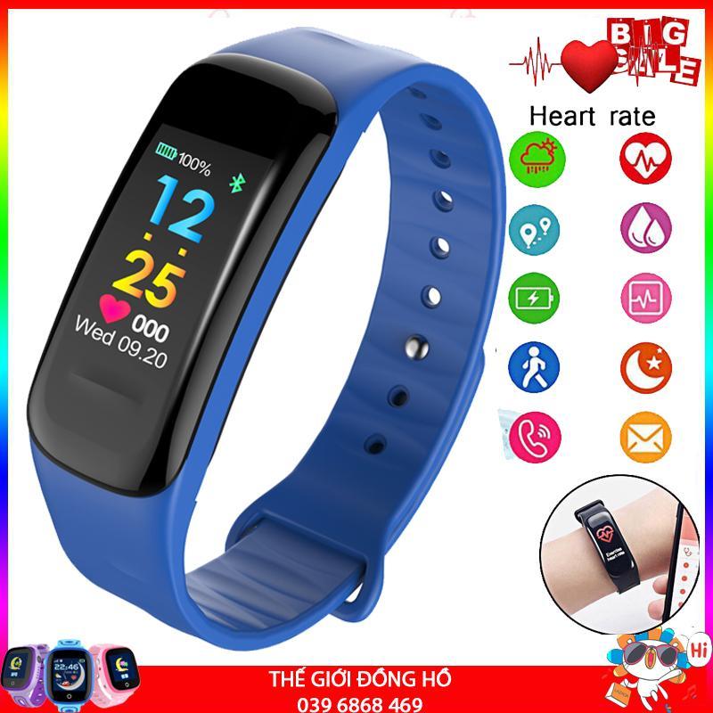 [Màu tùy chọn] Vòng đeo tay thông minh Wearfit C1 Plus màn hình màu cảm ứng, Đồng hồ thông minh chống nước, Đồng hồ thông minh có bluetooth , Đồng hồ thông minh giá rẻ - Vòng tay thông minh, vòng theo dõi vận động