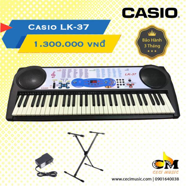 Đàn Organ Casio LK37 Like New 90% - Hàng nội địa Nhật.Tặng kèm chân đàn trị giá 150,000đ.Bảo hành 3 tháng (Có video review)