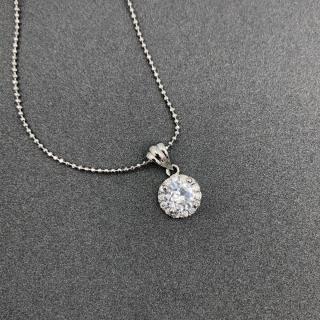[HCM]Dây chuyền nữ bạc mạ vàng trắng (có cả mặt và dây) đính đá kim cương nhân tạo cho độ lấp lánh cao dây chuyền JK Silver đẹp cực sang trọng TH01 thumbnail