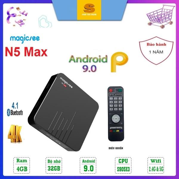 Bảng giá [Có video] Android Tivi Box Magicsee N5 MAX Ram 4GB - Rom 32GB - Chip S905X3- Bluetooth 4.1- USB 3.0 - Model 2020 Có Điều Khiển Giọng Nói Điện máy Pico