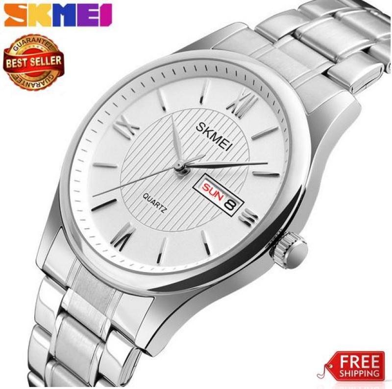 Đồng hồ Skmei nam dây thép clasical 1261 (bh 12 tháng)
