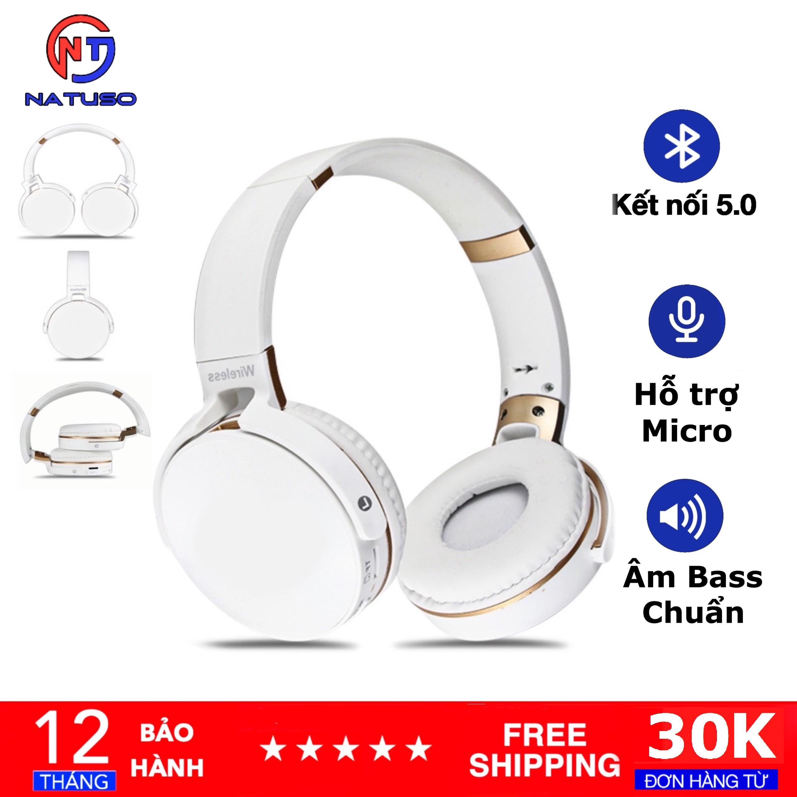 Tai Nghe Bluetooth Chụp Tai Extra Bass JB950 Có Mic Đàm Thoại, Âm Thanh Chất, Bass Sống Động, Hỗ Trợ Thẻ Nhớ Và Cổng 3.5