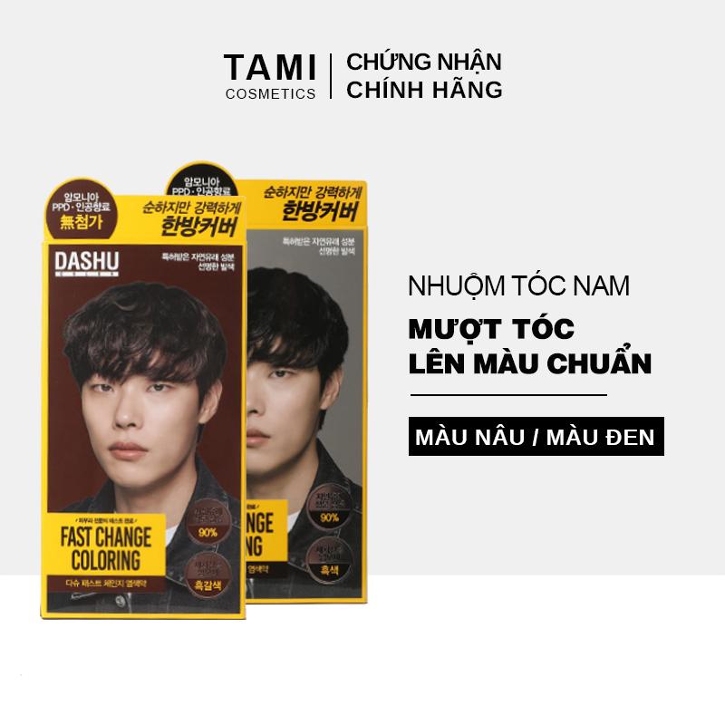 Thuốc nhuộm tóc cho nam DASHU Color Fast Change Màu nâu/đen Lên màu chuẩn Bảo vệ da đầu Giúp tóc mềm mượt thuốc nhuộm tóc Hàn Quốc TM-NT01 giá rẻ