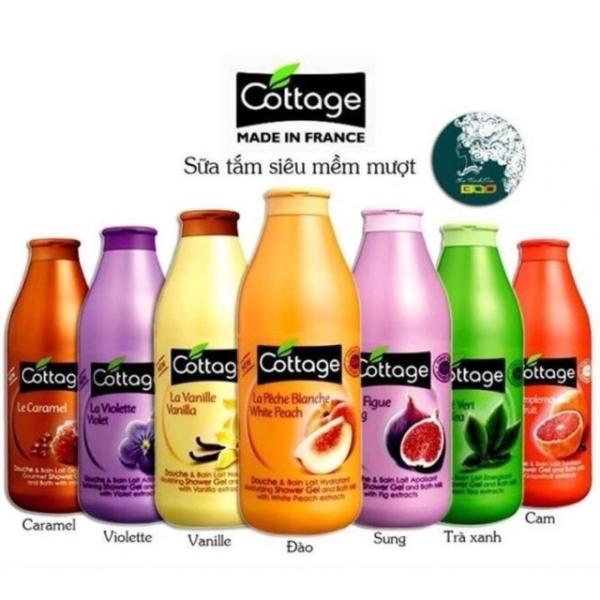[XẢ KHO] -Sữa tắm Cottage hương Vani hàng Pháp 750ml-DATE:2023 nhập khẩu