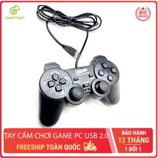 [HCM]Tay cầm chơi game PC gaming controller kết nối USB 2.0 cho laptop máy tính Chammart thumbnail