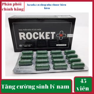 Dưỡng thận hàng ngày Rocket tăng cường sinh lý nam, tăng testosterol, giảm tiểu đêm, đau lưng, mỏi gối,tăng cương sinh lý nam-Hộp 45 viên nang Rocket +, dùng được 1 tháng thumbnail