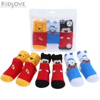 Kidlove 3 Đôi Vớ Vớ Trẻ Em Hoạt Hình Dễ Thương Cho Trẻ Sơ Sinh Trẻ Em Trung Ống Thoáng Khí Vớ Sàn