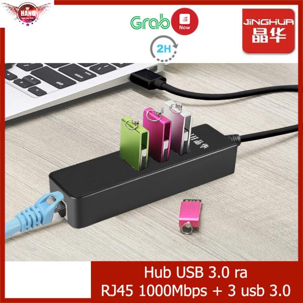 Bảng giá Hub usb 3.0 ra Ethernet RJ45 (1000Mbps) và 3 cổng usb - Jinghua Z314 Phong Vũ