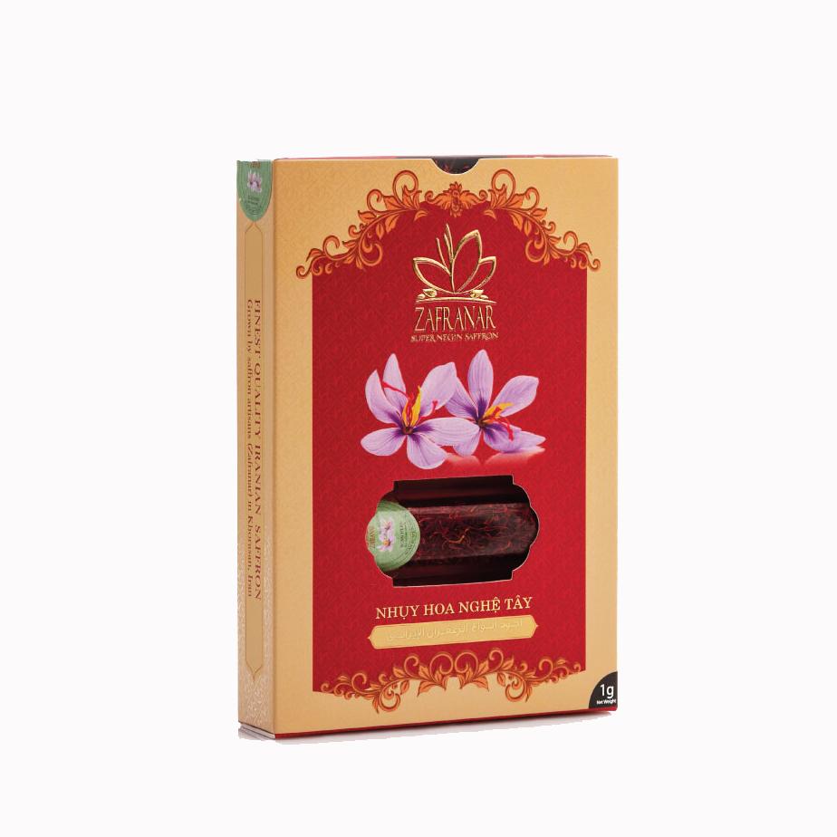 [Quà tết] Nhụy Hoa Nghệ Tây Zafranar Saffron Super Negin 1gr - Loai cao cấp