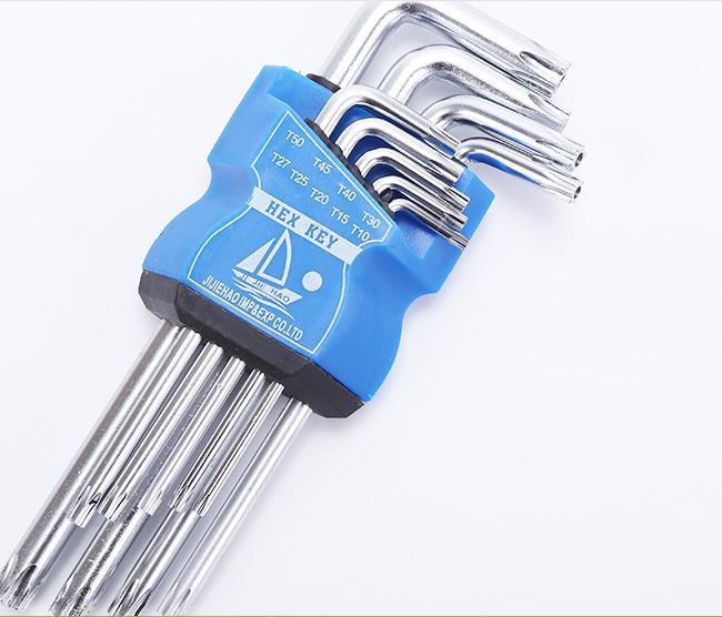 bộ lục giác 9 bi đầu BÔNG ,2 đầu lục giác từ T10 đến T50 chất liệu thép