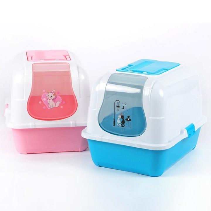 Nhà vệ sinh mèo kitty có kèm lọc khí + Xẻng - CutePets
