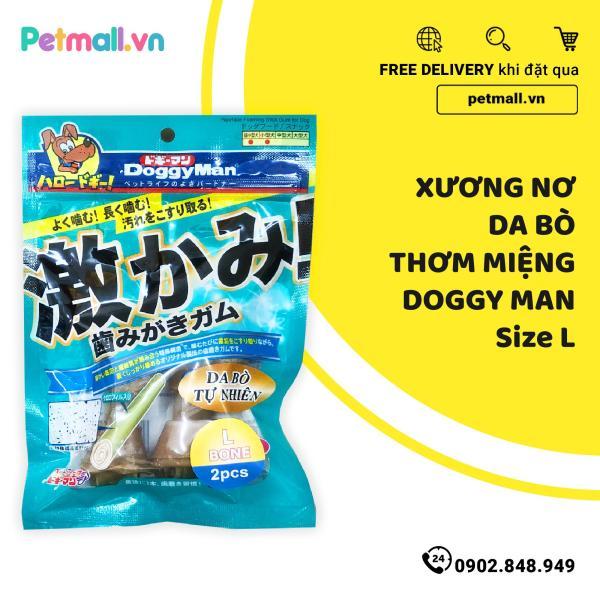 Xương nơ da bò thơm miệng DoggyMan Size L - 2 cây