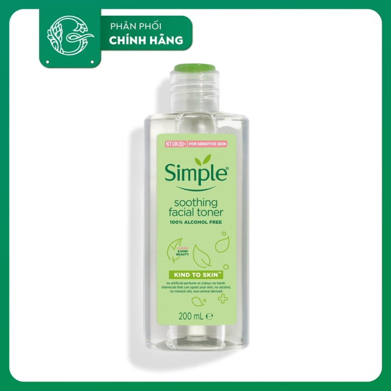 Nước Hoa Hồng Simple Kind To Skin Soothing Facial Toner 200ml