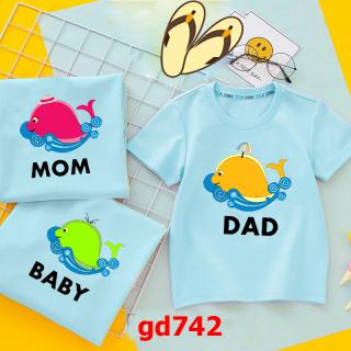 áo gia đình in hình cá heo cực xinh vải cotton thumbnail