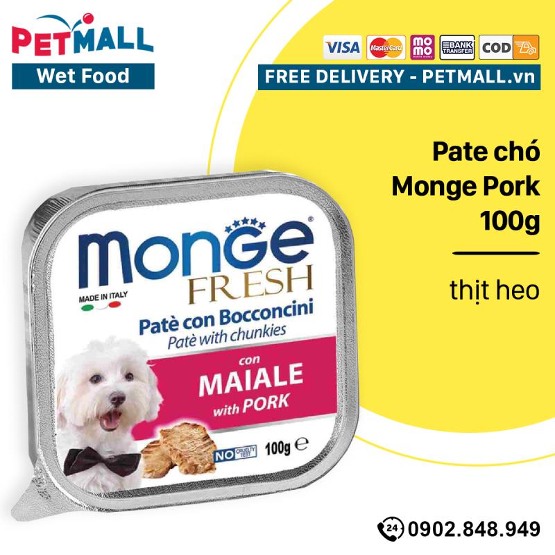 Pate chó Monge Pork 100g - thịt heo