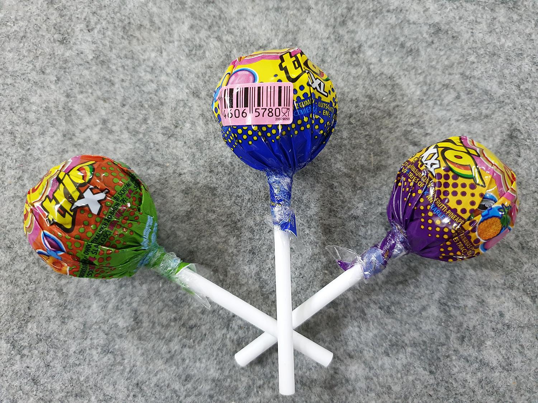 [Siêu hot] Combo 3 cái kẹo Chupa Chups size XXL Trio 3 in1 vị Hoa quả, Vị Cola, Vị Táo : Lớp 1 : Kẹo mút, lớp 2 : siro, lớp 3 : singum ( Mẫu mới  - Nội địa Holland - Xách tay Hà Lan - HSD : 8/2020)