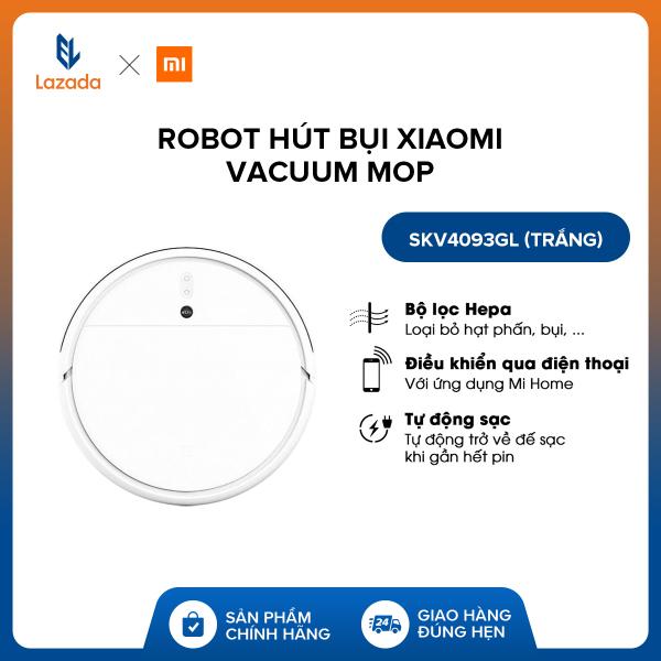 Robot hút bụi Xiaomi Vacuum Mop SKV4093GL (Trắng) - Hàng phân phối chính hãng