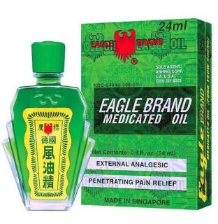 Dầu gió xanh Mỹ 2 nắp nhập khẩu Eagle Brand Medicated Oil thumbnail