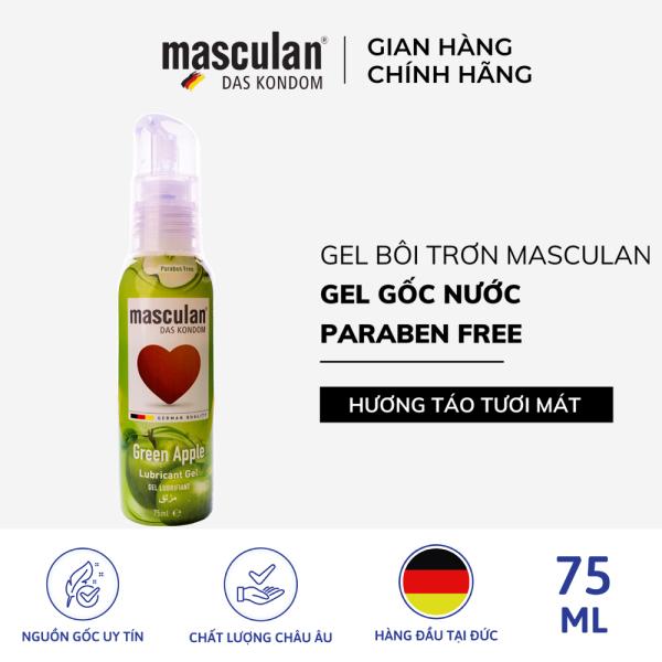 Gel bôi trơn cao cấp Masculan Green Apple - Trơn tru - Gốc nước - Không chất bảo quản - An toàn - 75ml giá rẻ