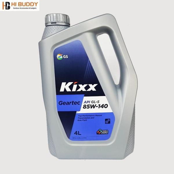 Dầu nhớt cho hộp số và cầu xe, Hiệu năng tốt Kixx GEARTEC GL-5 85W/140 4L