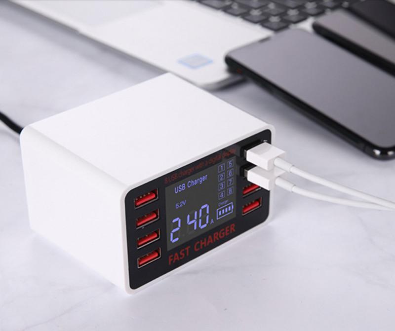 Bảng giá Bộ sạc ổ Cắm USB F6 ( 8 Cổng USB ) Tích Hợp Màn Hình LCD Hiển Thị Điện Áp-8 cổng USB giúp bạn thoải mái cắm các thiết bị, cho máy nghe nhạc, máy ảnh, sạc chiếc điện thoại, tablet…( BẢO HÀNH 12 THÁNG)