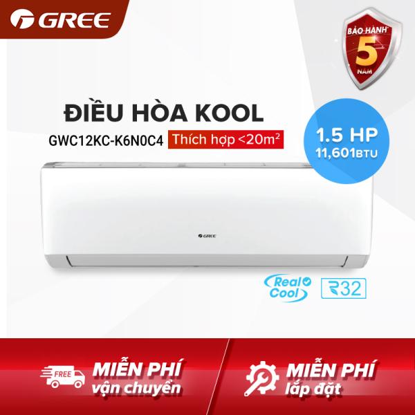Bảng giá Điều hòa GREE- công nghệ Real Cool - 1.5 HP (11.601 BTU) - KOOL GWC12KC-K6N0C4 (Trắng) - Hàng phân phối chính hãng DT Hỗ trợ 0917516177