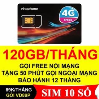 Sim Vinaphone VD89P 4GB ngày(120GB tháng + 50phút ngoại mạng,Miễn phí gọi nội mạng chỉ với 89k tháng thumbnail